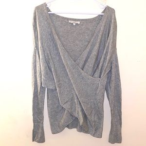 Current Air S Anthropologie wrap sweater v neck